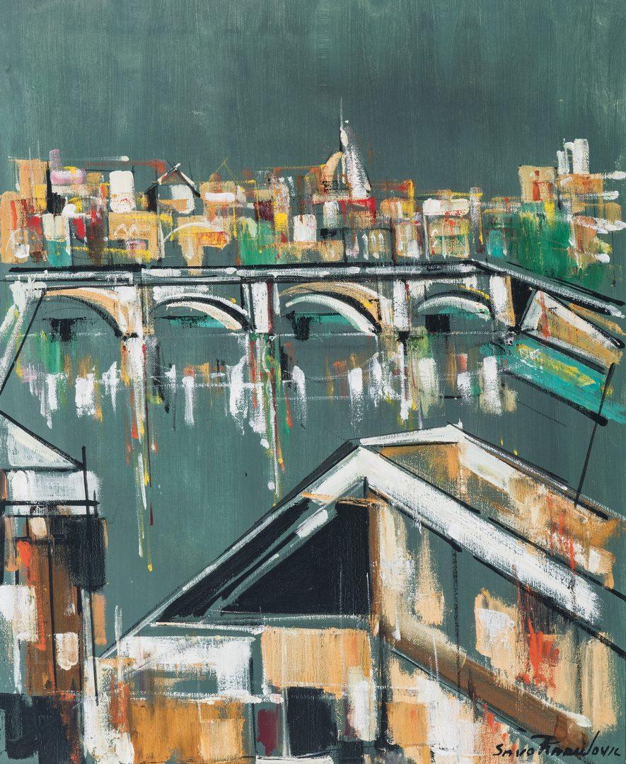 """Lot 257: Savo Radulovic O/C, """"Bridge over the Tiber"""""""