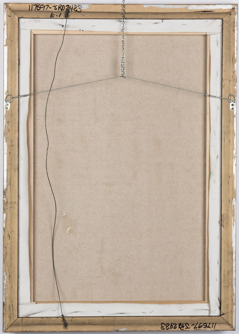 Lot 259: Signed Abstract Expressionist O/C Painting