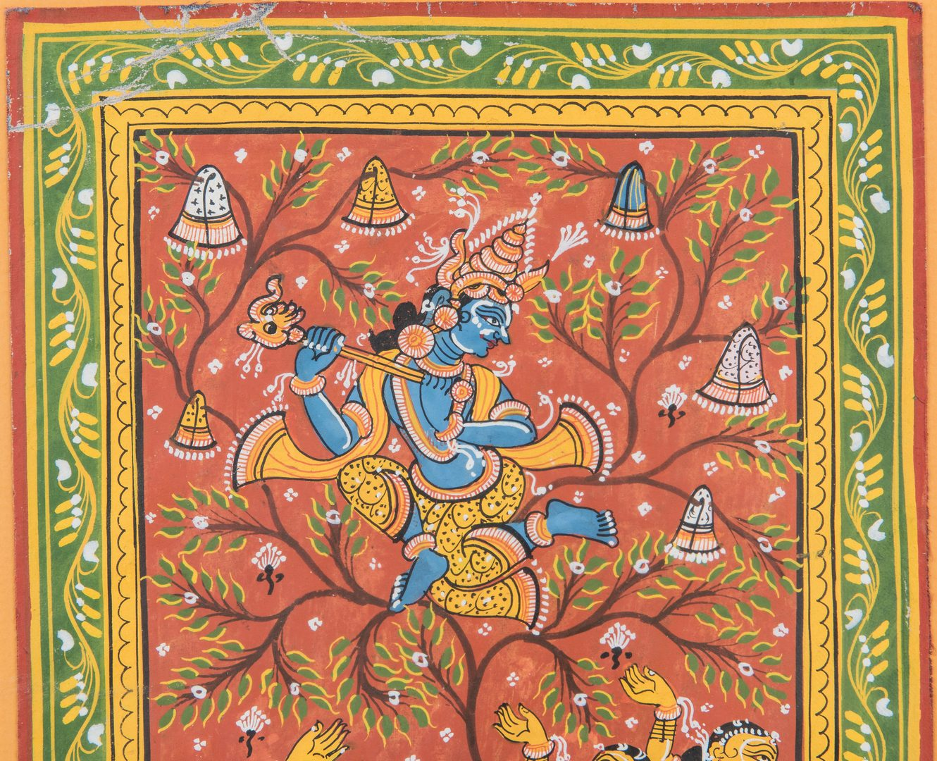 Lot 25: 2 Indian School Mughal Style Gouache Paintings