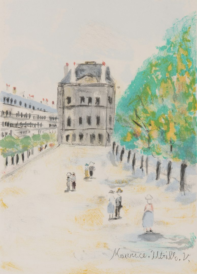 Lot 264: 3 20th Cent. French Lithographs, incl. Maurice Utrillo, Bernard Buffet