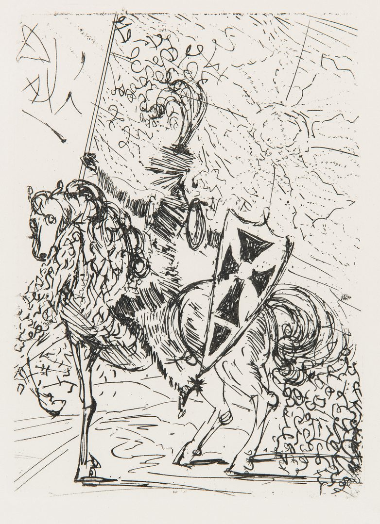 Lot 265: 2 Salvador Dali El Cid Etchings, incl. Collector's Guild