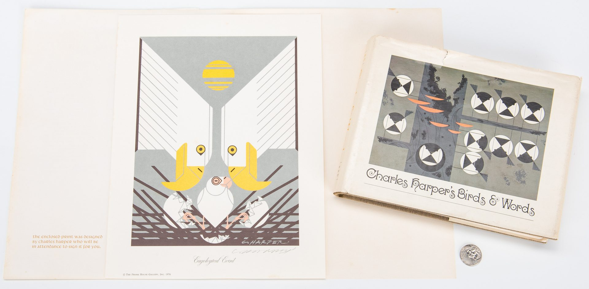 Lot 266: 2 Charley Harper Signed items, incl. Book & Print