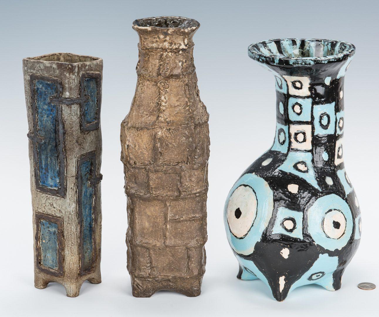Lot 267: 3 Olen Bryant Ceramic Vases