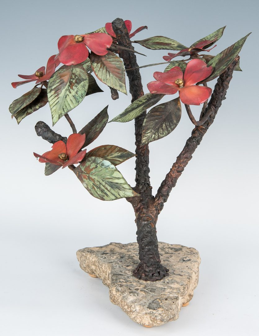 Lot 268: John Steck Bronze Floral Sculpture