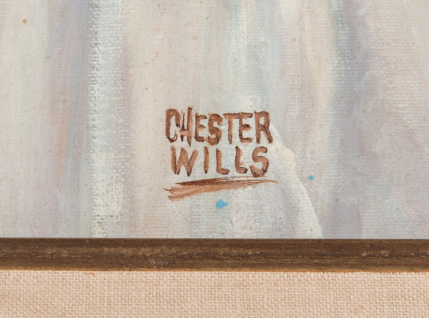 Lot 270: Chester Wills Portrait of a Native American Woman
