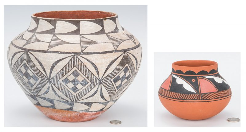 Lot 272: 2 Native American Pottery Jars, incl. Lucy F. Rodela