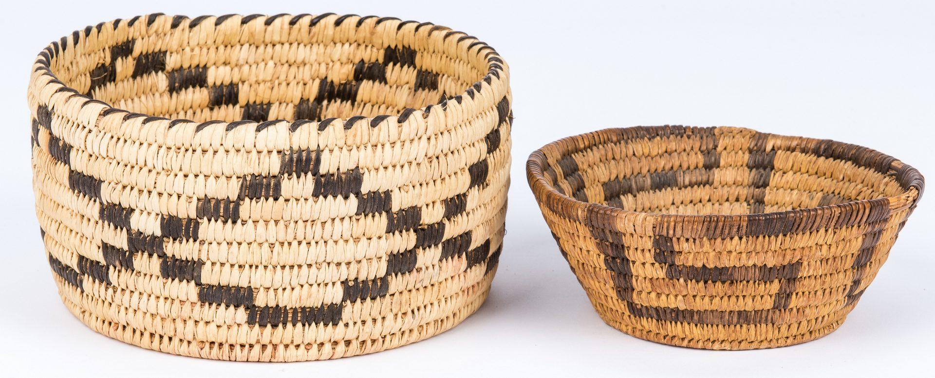 Lot 275: 9 Native American baskets, mostly Southwestern