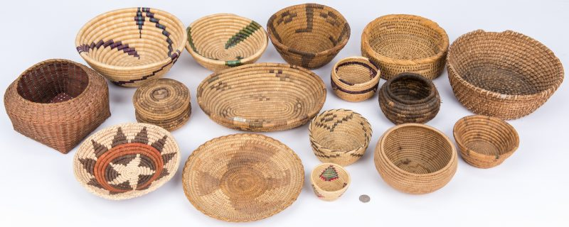 Lot 276: 16 Assorted Native American Baskets