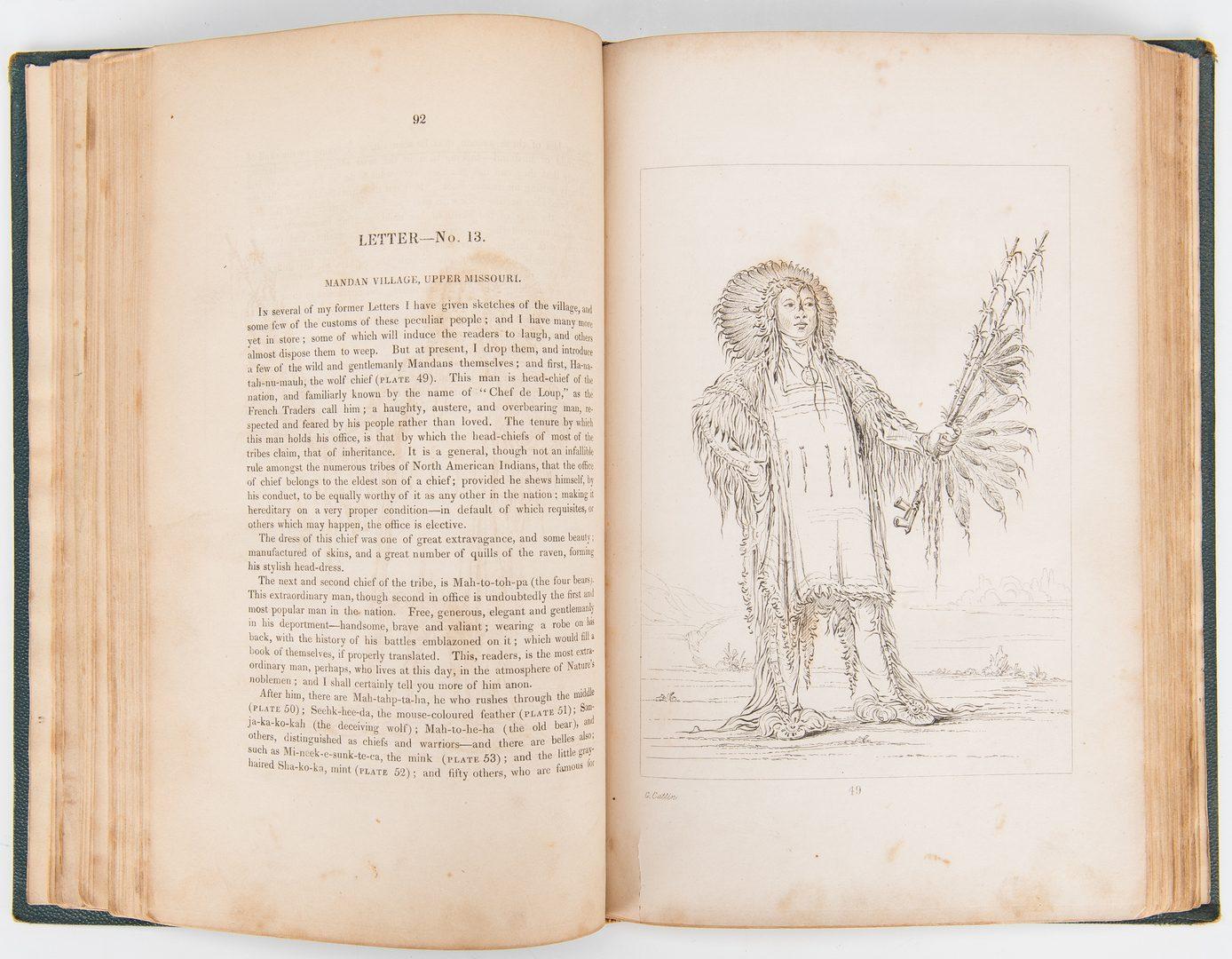 Lot 279: Catlin, North American Indians, Vol. I & II, Sixth