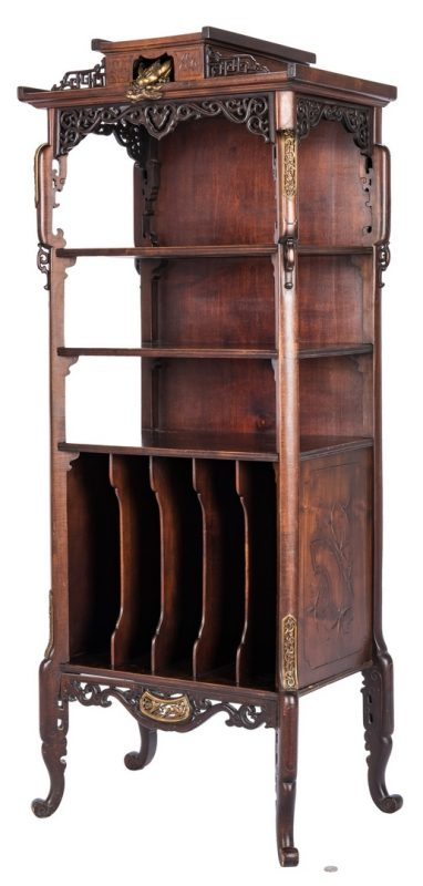 Lot 27: French Chinoiserie Music Cabinet by Gabriel Viardot, Signed