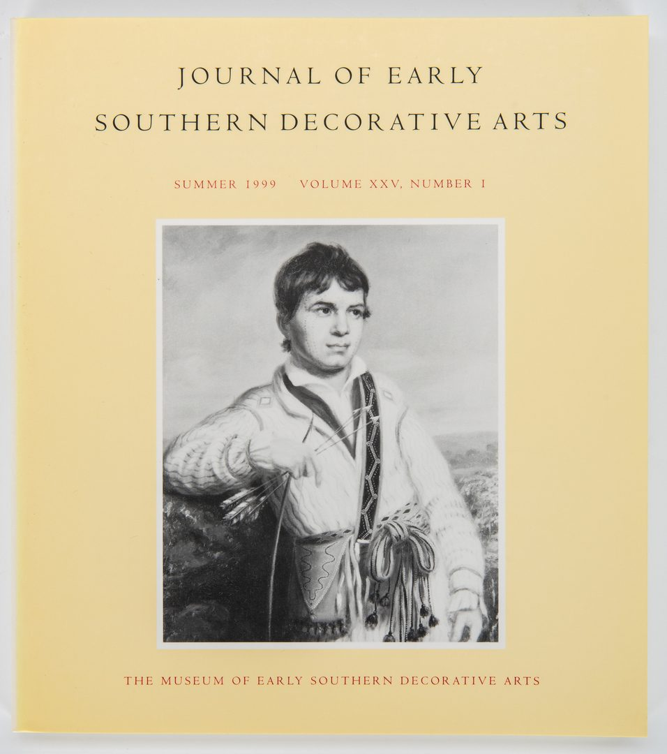 Lot 280: 7 Southern Arts Reference Books, incl. MESDA Journal