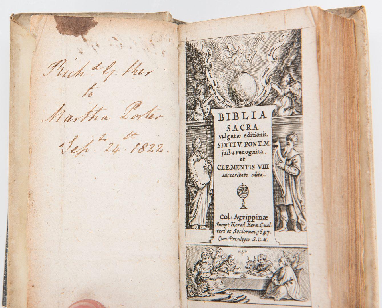 Lot 283: Biblia Sacra Vulgate Holy Bible, 5 Vols., 1647