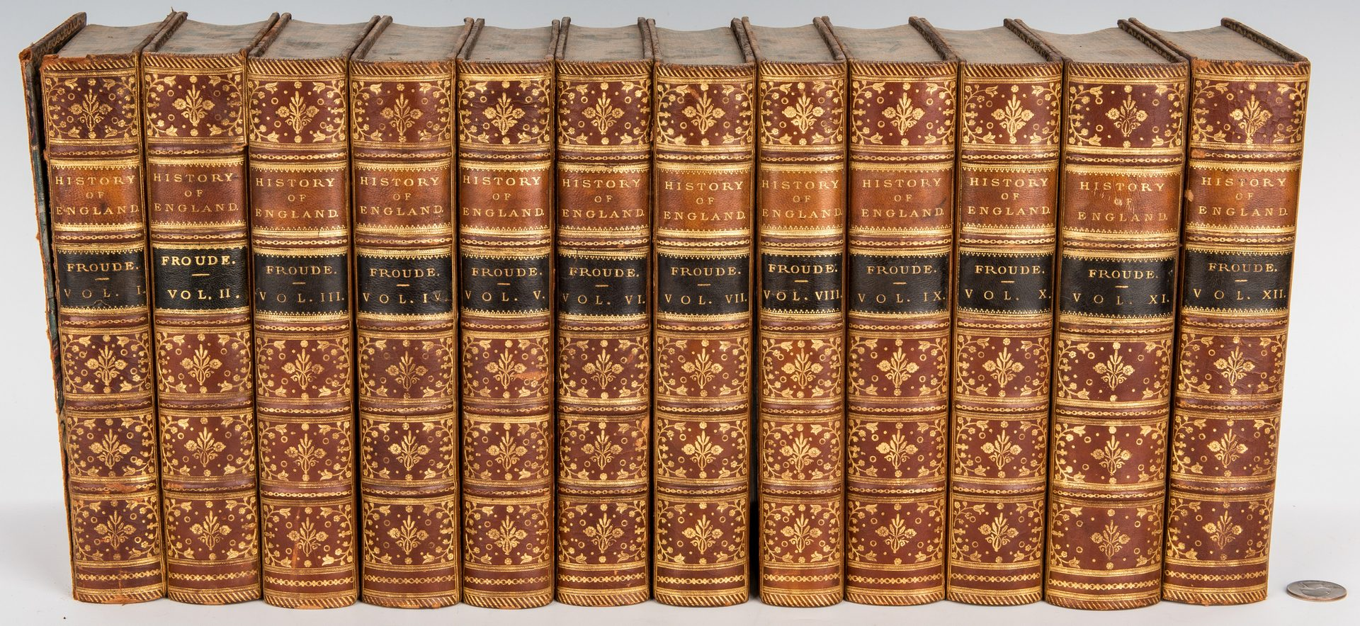 Lot 286: Froude's History of England, 12 Vols., 1870