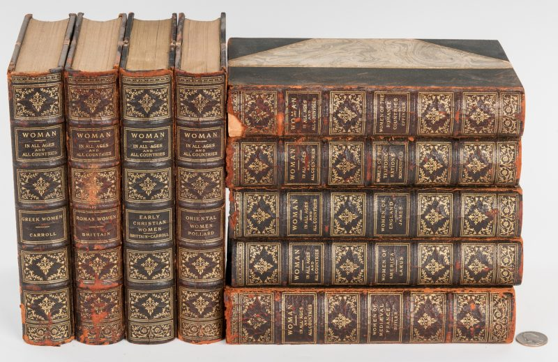 Lot 289: Woman: In All Ages and In All Countries, 9 Vols., 1907