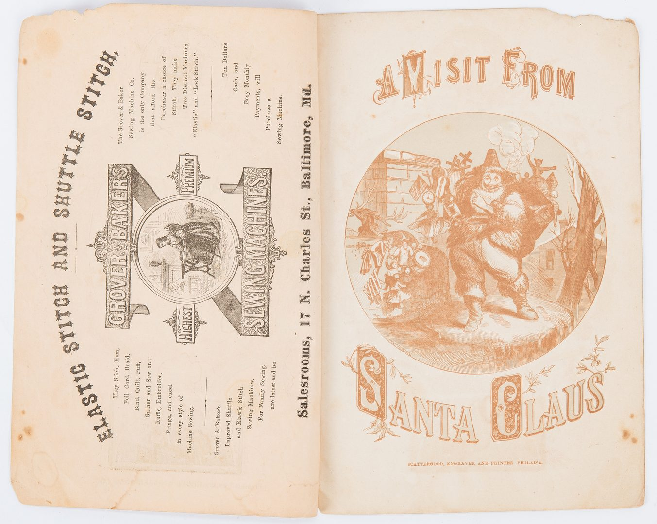 Lot 290: A Visit from Santa, illus. Scattergood