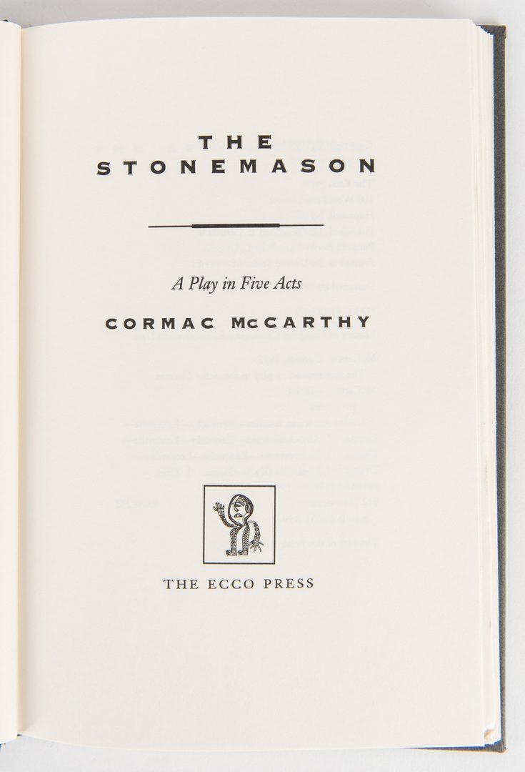 Lot 291: 4 Cormac McCarthy 1st Eds., incl. Border Trilogy