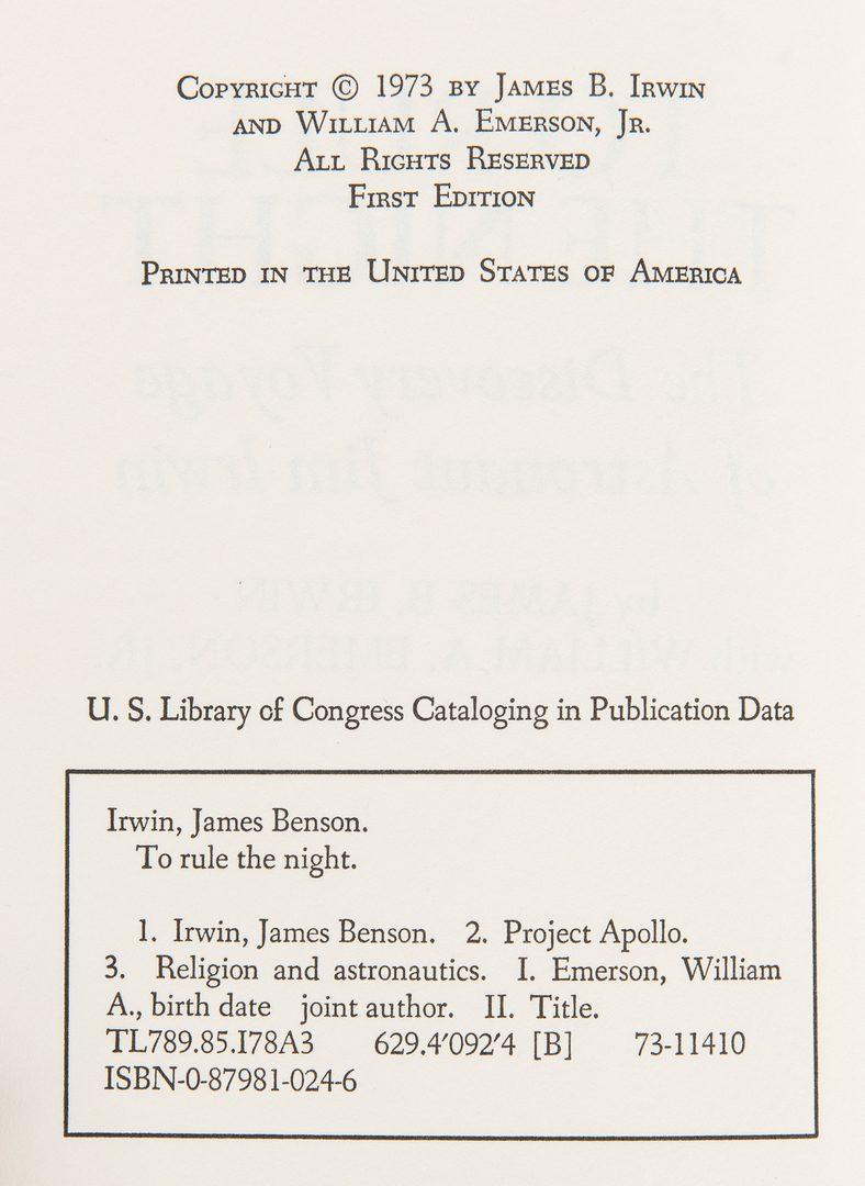 Lot 295: 5 American Astronaut / Pilot Signed Books