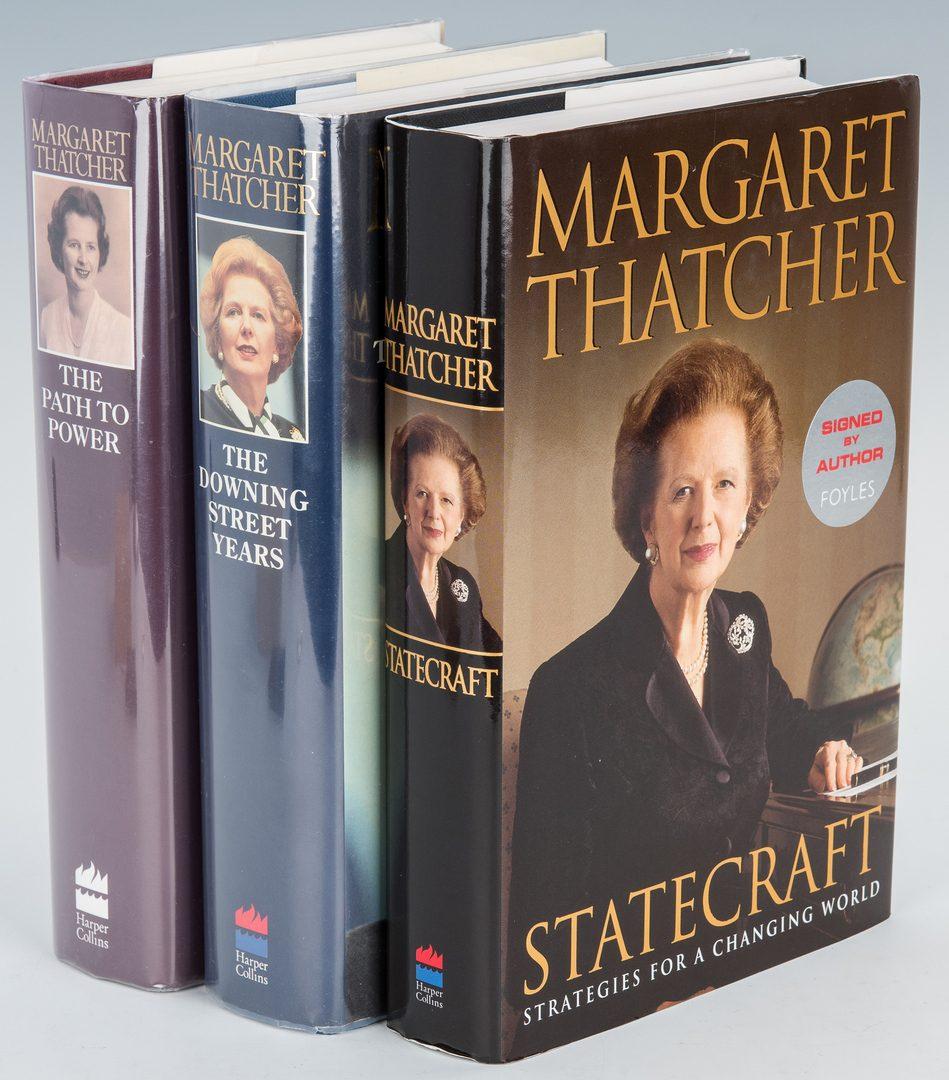 Lot 296: 3 Margaret Thatcher Signed Books