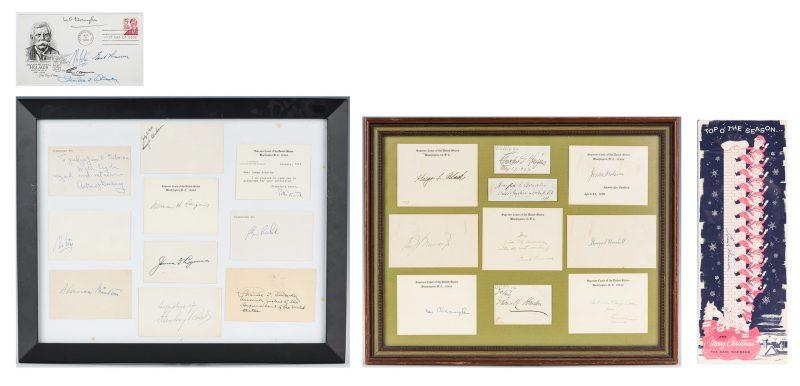 Lot 298: Group of Supreme Court Autographs and Ephemera