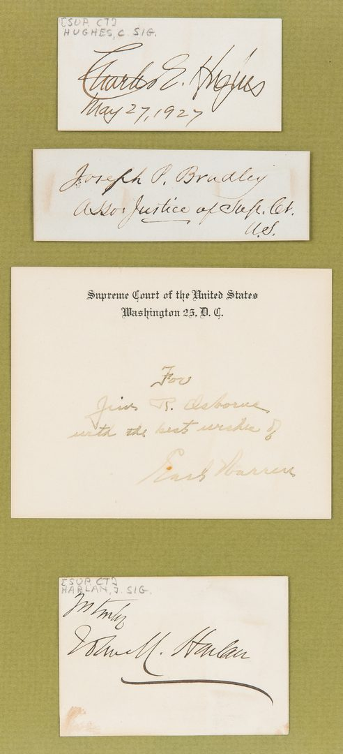 Lot 298: Group of Supreme Court Autographs and Ephemera