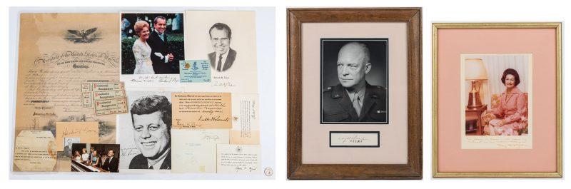 Lot 299: 20th Century Presidential Ephemera, 15 items