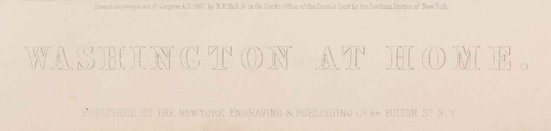 Lot 304: 2 George Washington Prints, incl. Washington At Home