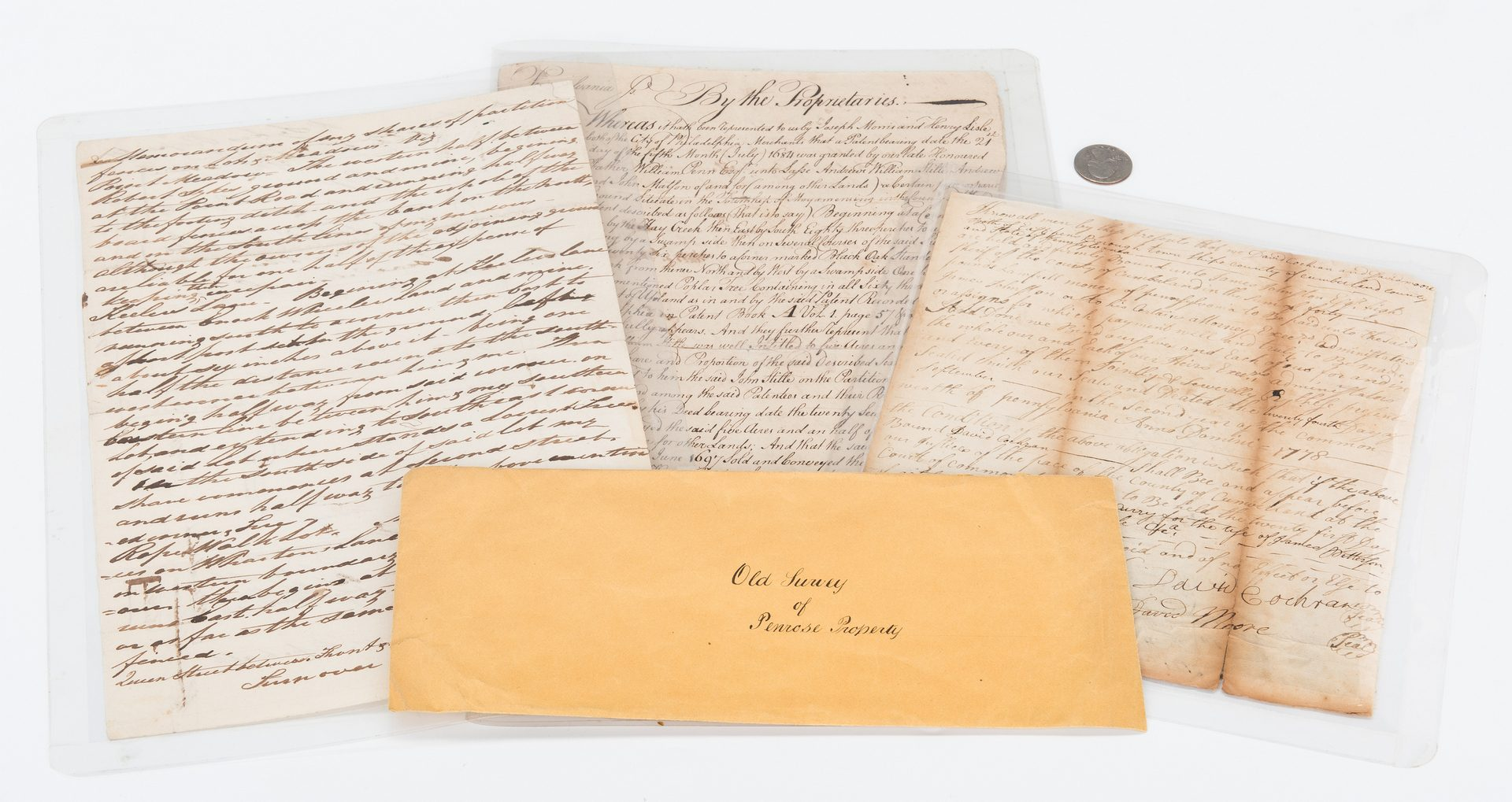 Lot 306: 3 Early PA Documents, incl. John Penn Signed