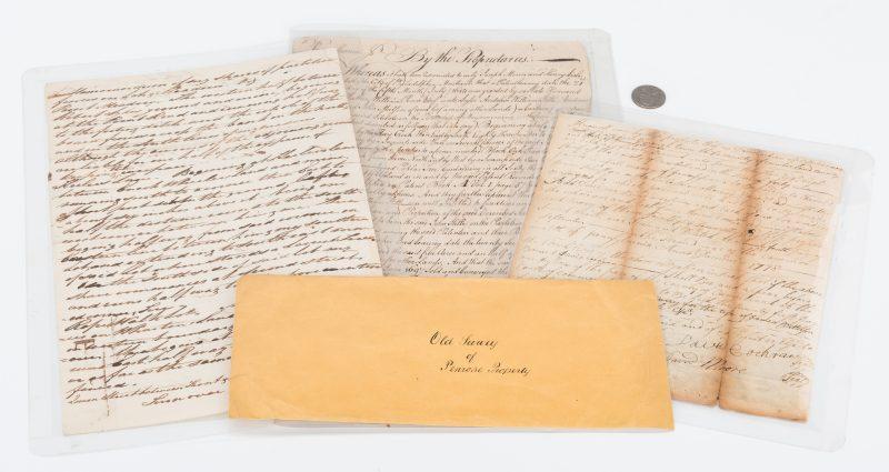Lot 306: 3 Early PA Documents, incl. John Penn Signed