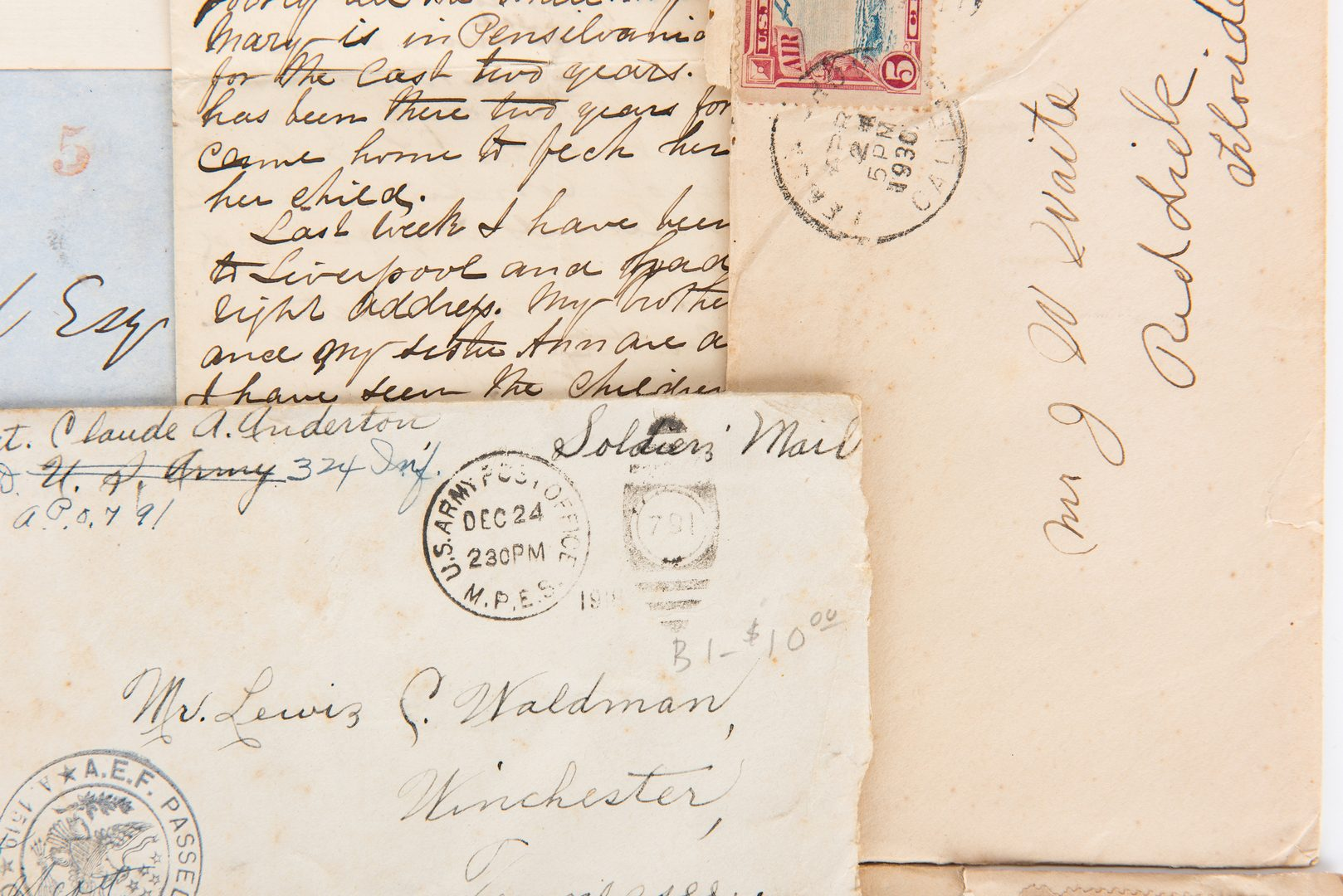 Lot 312: Archives of 64 Envelopes/Letters, incl. Railroad Related