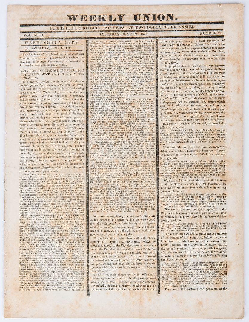 Lot 314: 10 Andrew Jackson, TN Related Newspapers