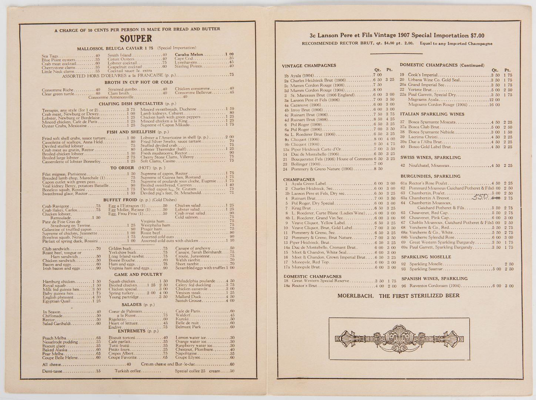 Lot 316: Group of 16 Ephemera items, incl. Almanacs, Programs, Menus