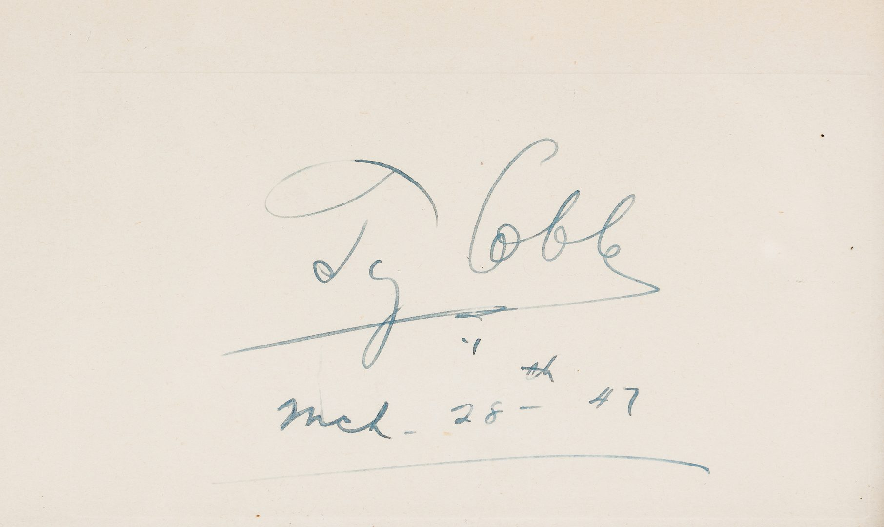 Lot 320: Ty Cobb Cut Autograph & Photograph