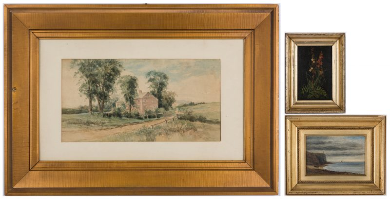 Lot 325: 3 19th Cent. Works of Art, incl. English Seascape, B.L. Roys