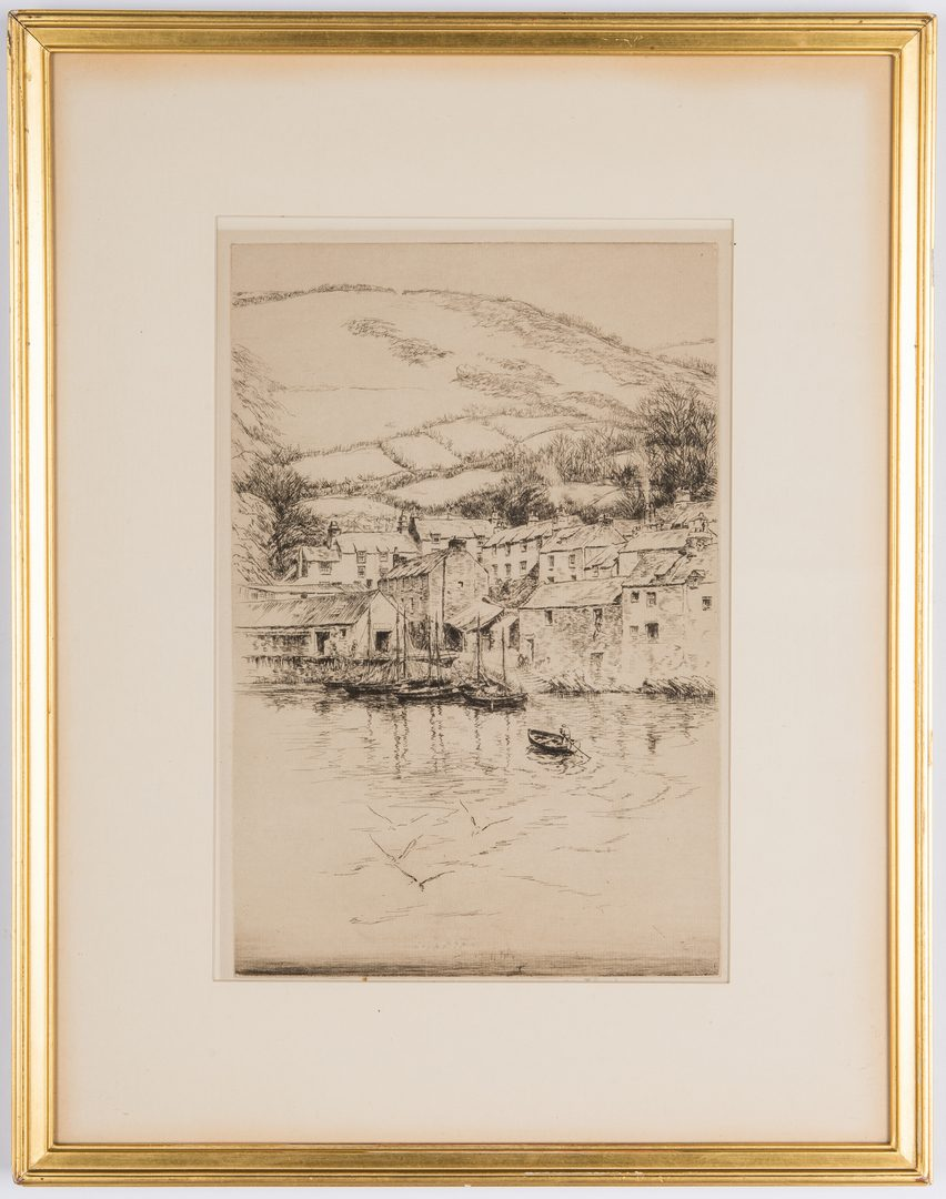 Lot 326: 3 Kerr Eby Etchings, incl. Cornwall Proofs