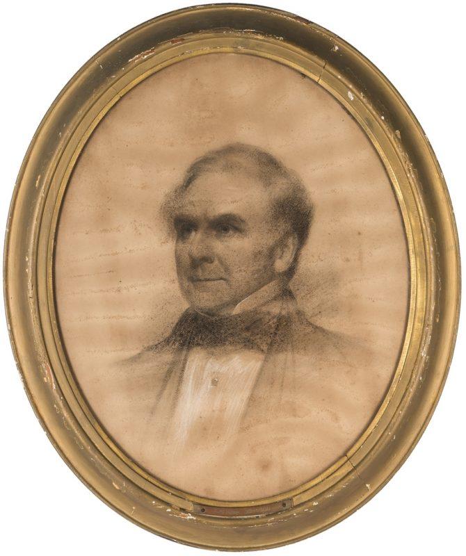 Lot 328: Attrib. Eastman Johnson, Portrait of a Gentleman