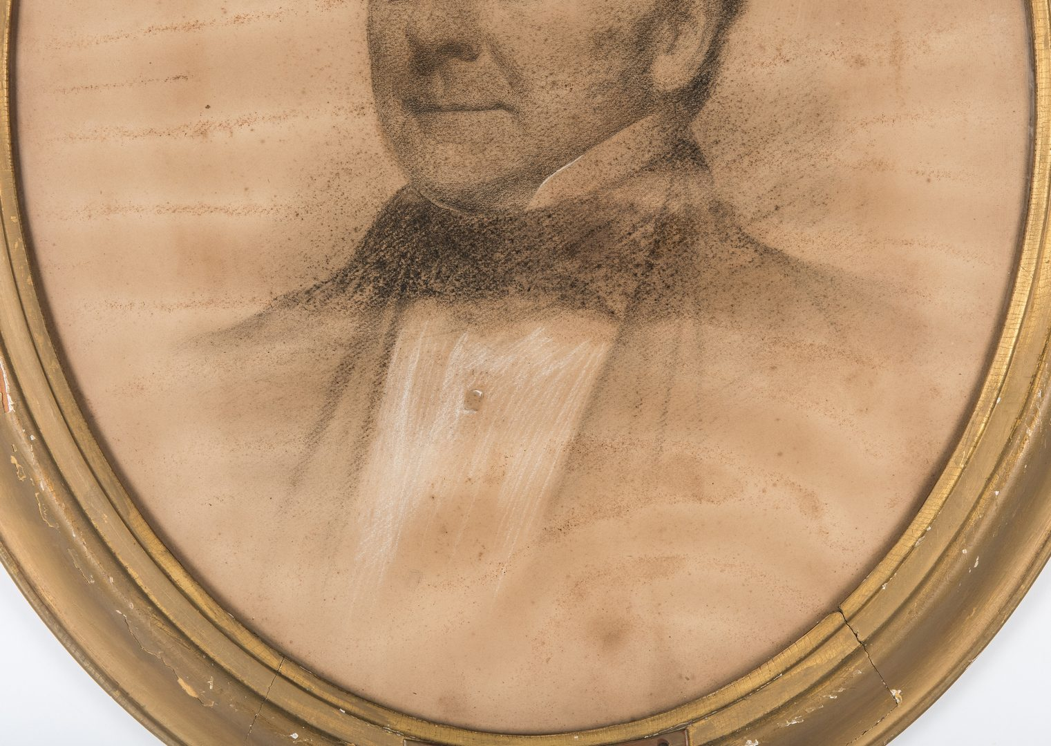 Lot 328: Attrib. Eastman Johnson, Portrait of a Gentleman