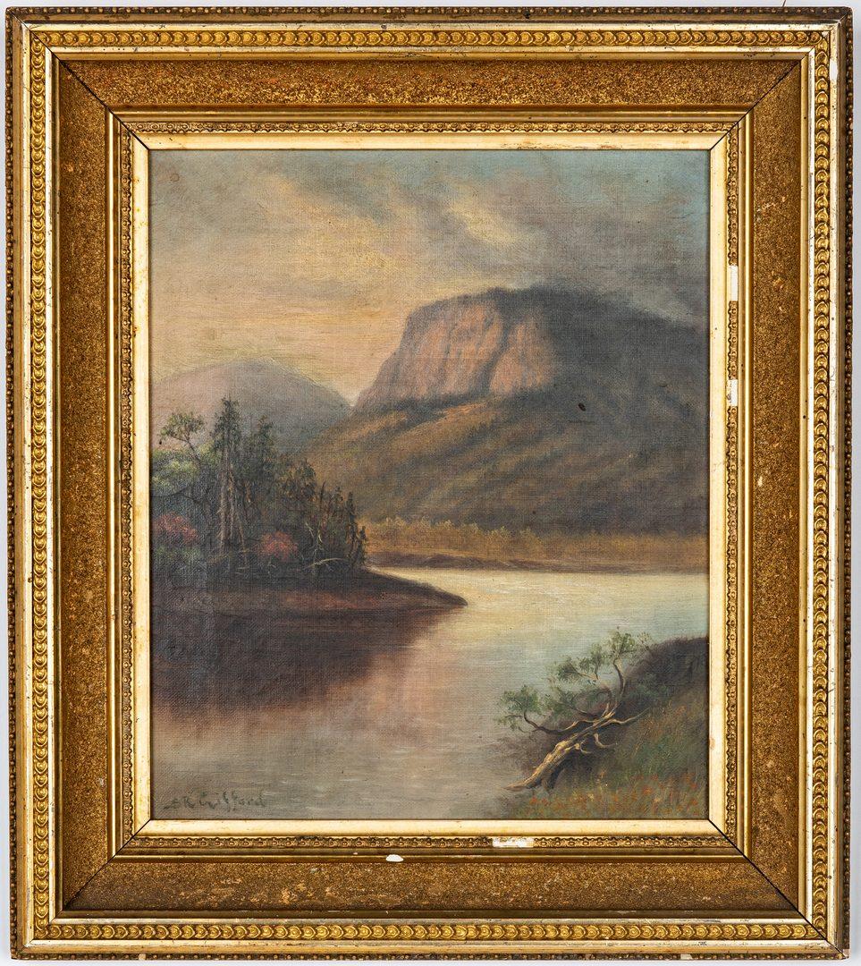 Lot 329: Tallmadge Silhouette plus Hudson River Style Landscape