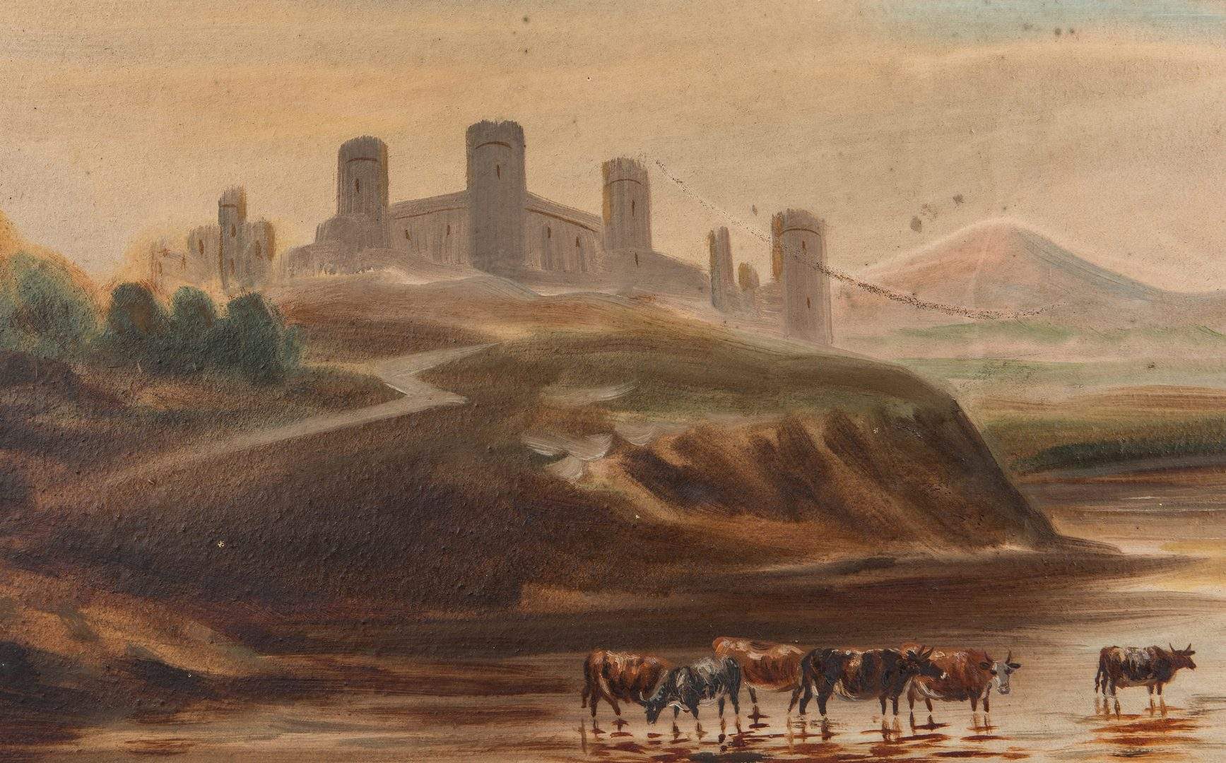 Lot 330: 2 19th Cent. Landscape Paintings, oil on board