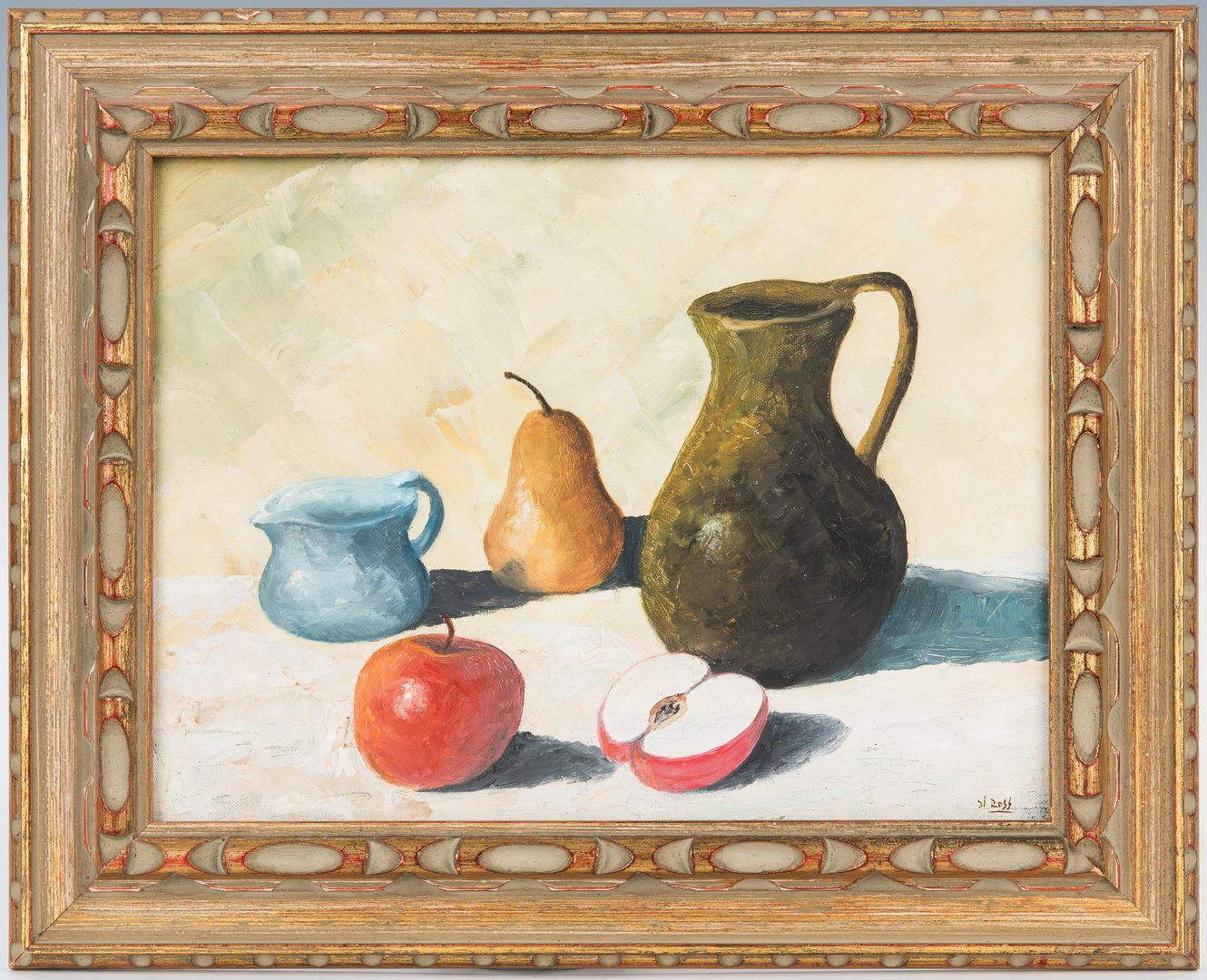 Lot 332: Hicks Tropical Landscape plus Still Life by Henry Ross