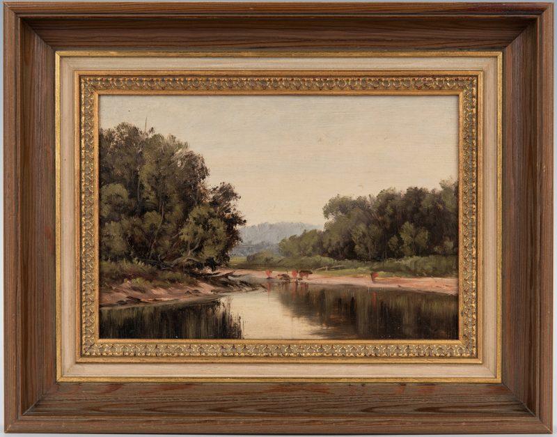Lot 333: American School Impressionistic O/B Landscape Painting