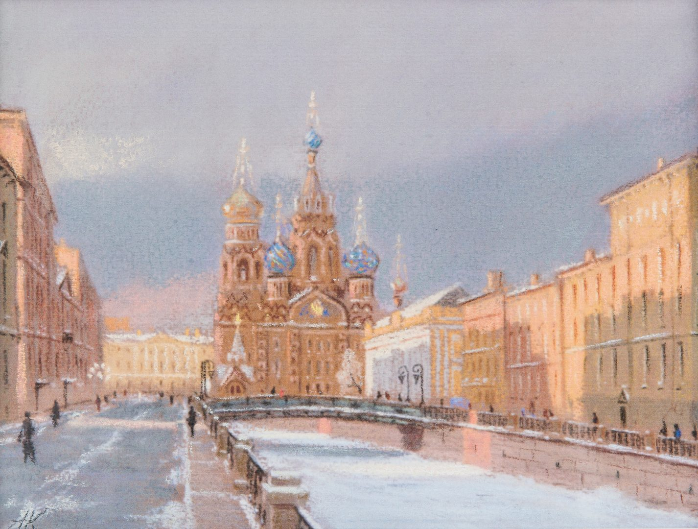 Lot 336: 2 Signed Russian School Watercolor Cathedral Paintings