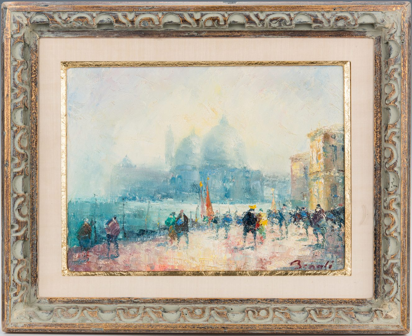Lot 339: Signed O/C Venetian Cityscape Painting