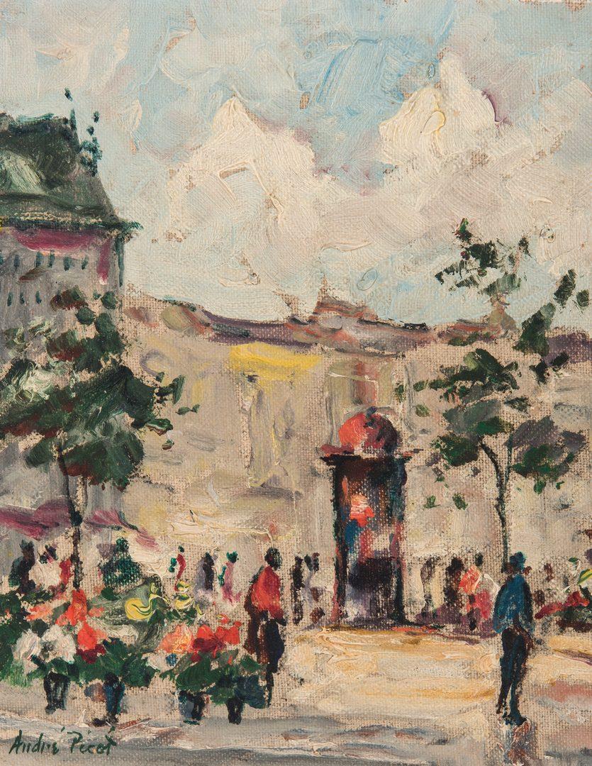 Lot 340: Andre Picot O/B, Parisian Street Scene
