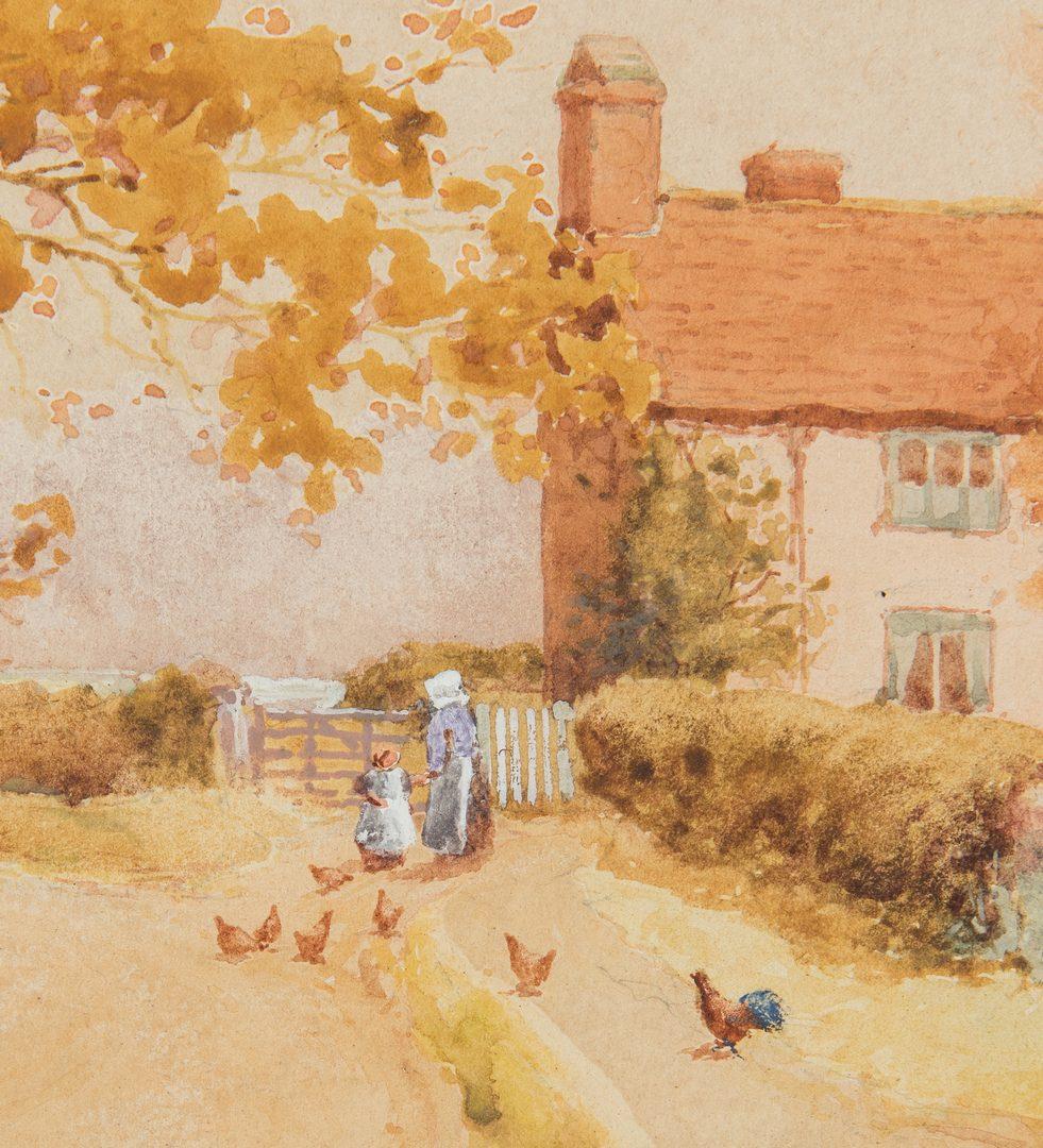 "Lot 344: James Matthews Watercolor, ""English Countryside"""