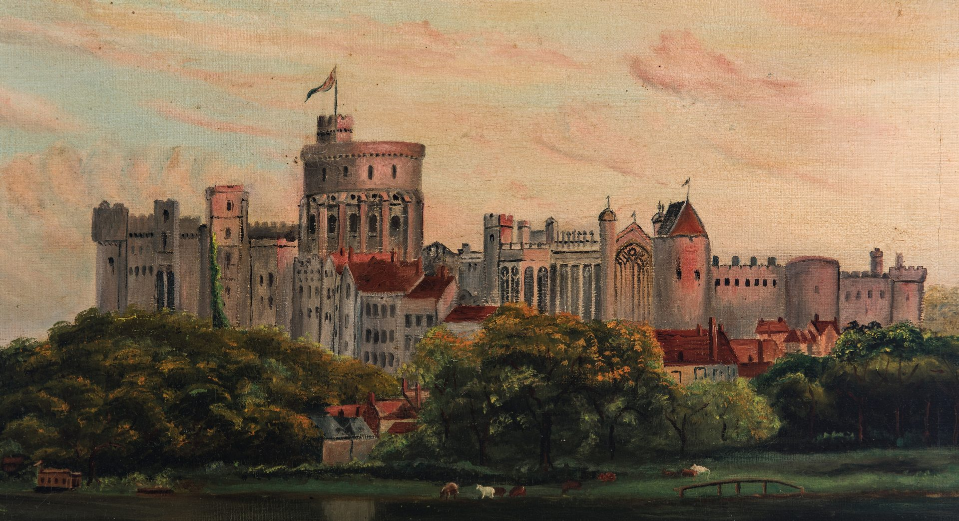 Lot 346: Signed British O/C, Windsor Castle