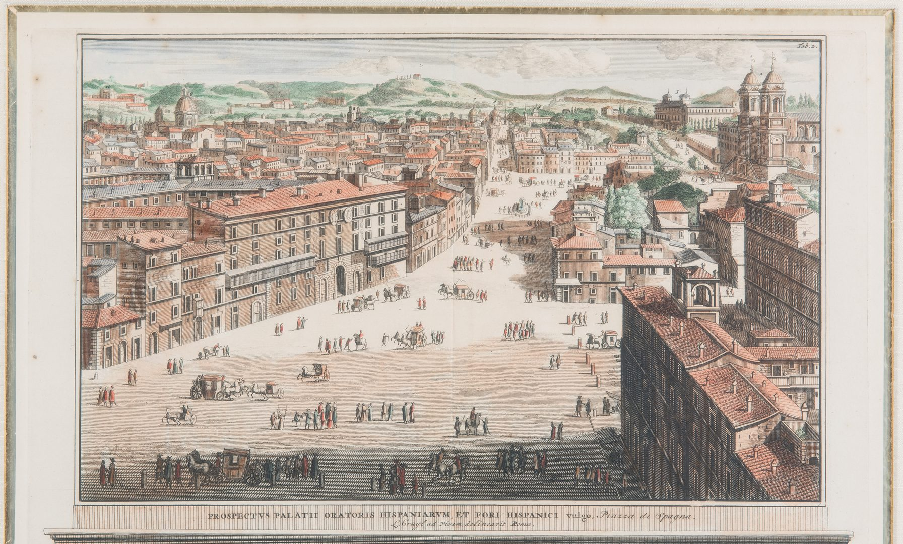 Lot 349: Engraved Views of Rome incl. Quirinal Palace