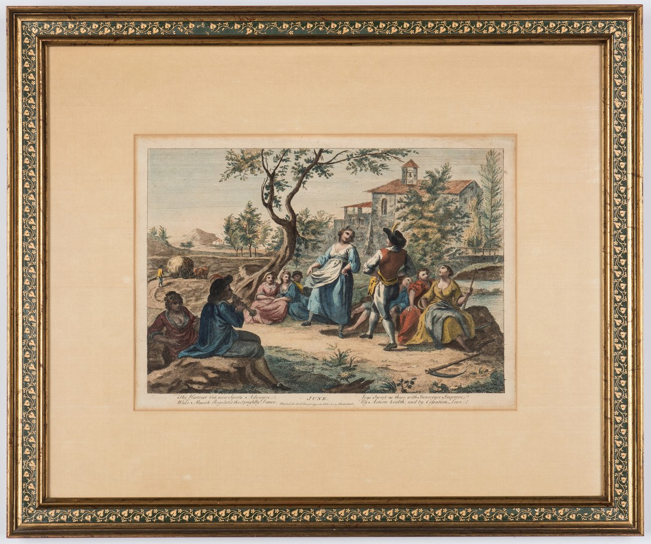 """Lot 351: Two """"Months of the Year"""" Engravings"""