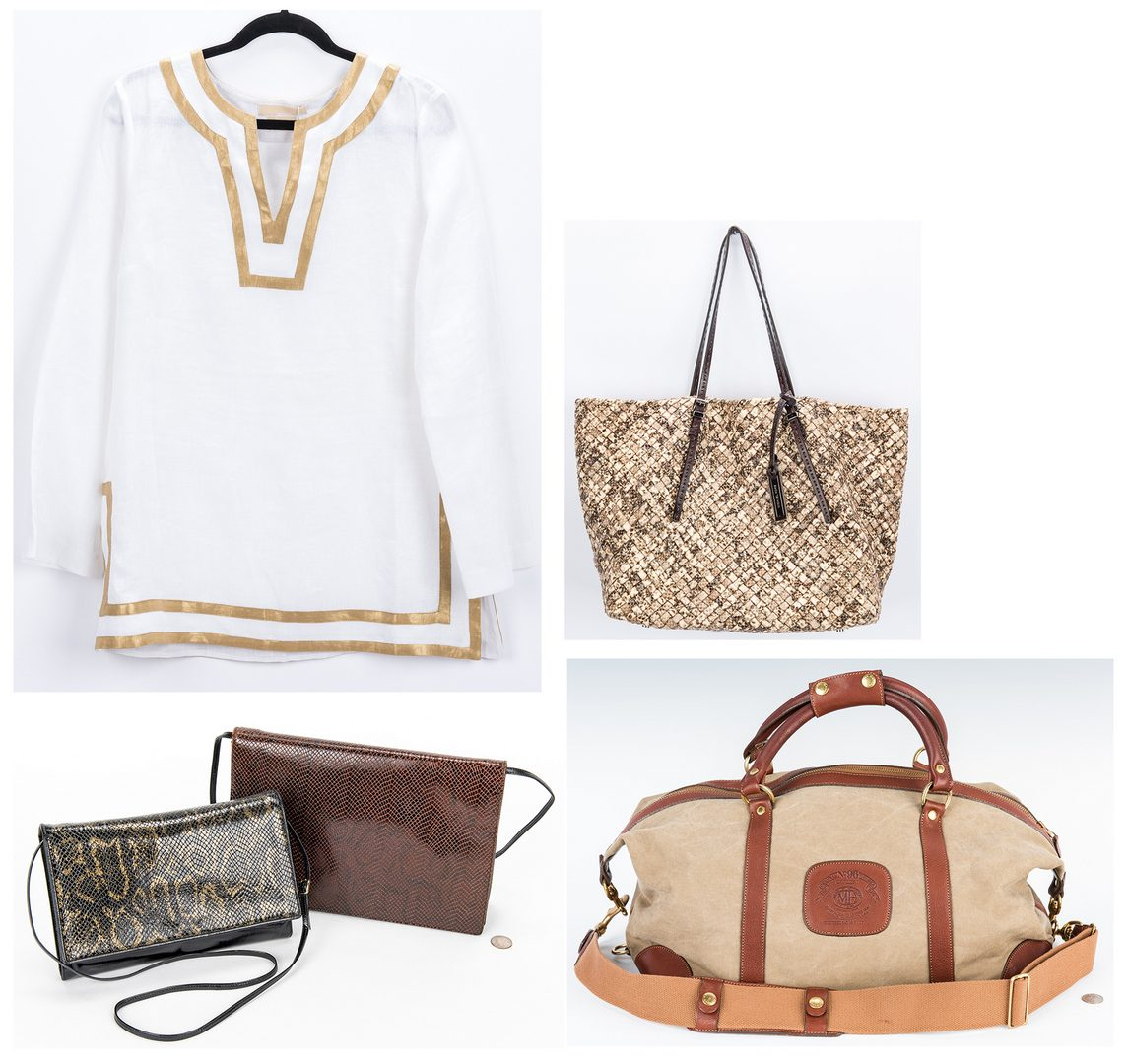 Lot 354: 5 Fashion Items, incl. Fendi, Michael Kors, Ghurka Duffel