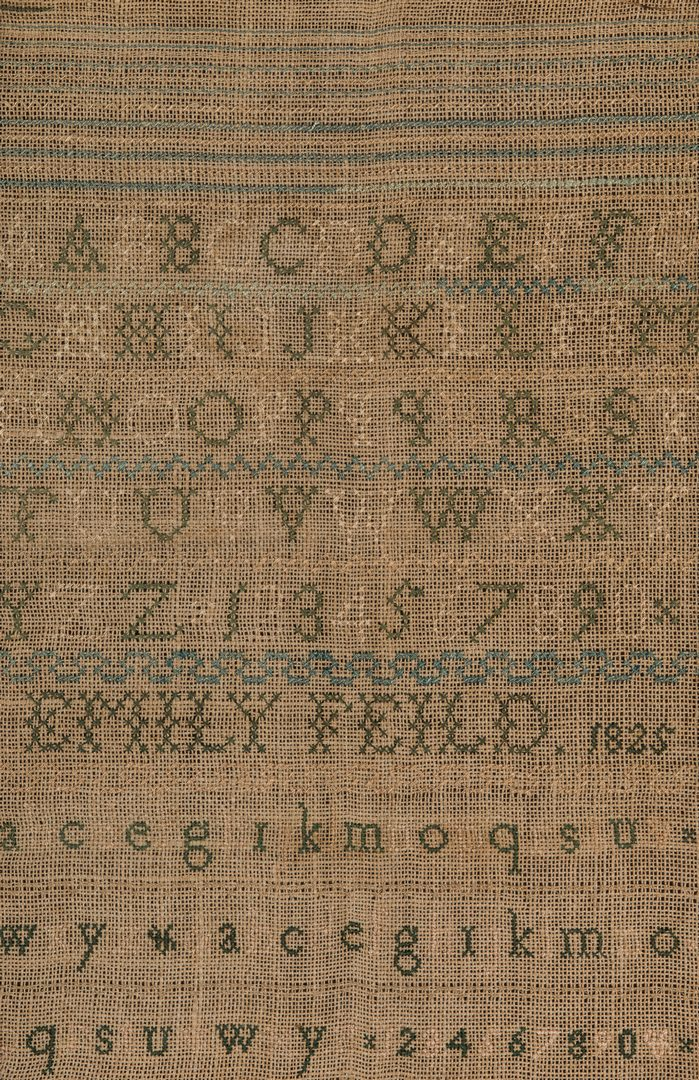 Lot 355: 3 Signed Samplers incl. Adam/Eve Sampler