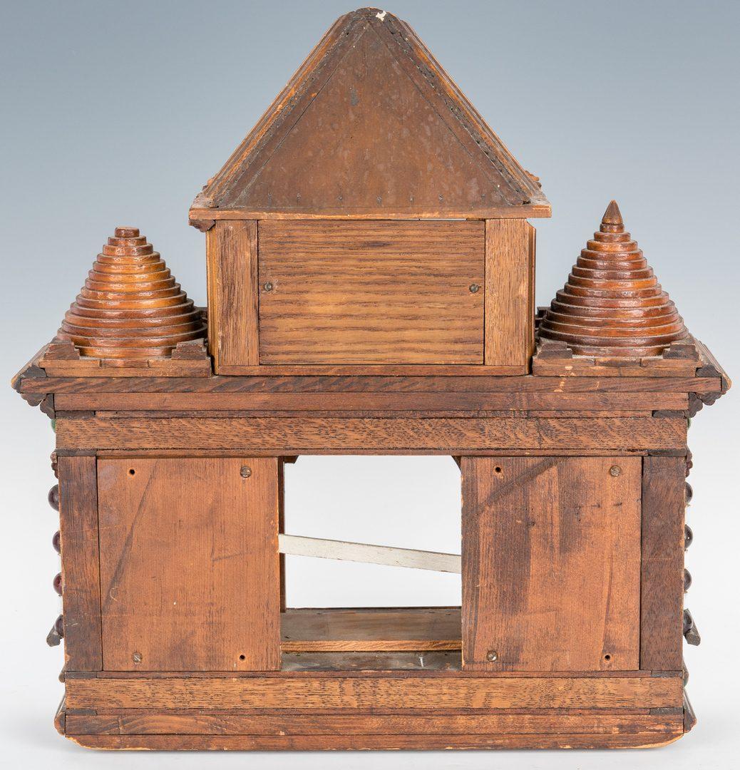 Lot 361: Folk Art Clock Hutch & Locking Candle Box